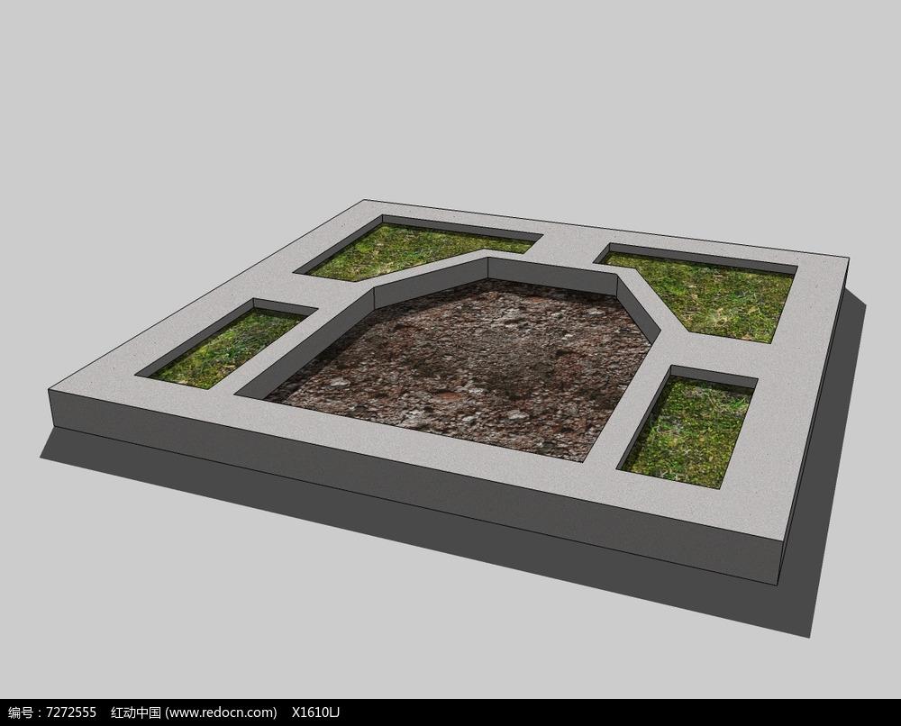 多边形种植池方形树池