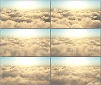 高空云层太阳视频