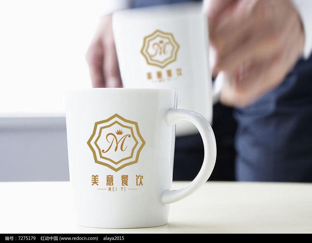 金色字母餐饮logo图片