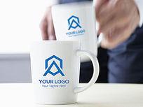 蓝色电器logo