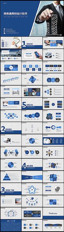 蓝色商务创业计划书PPT设计模板