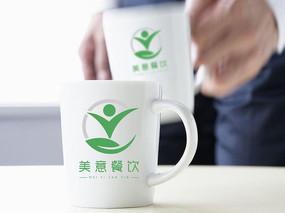 绿色时尚餐饮logo