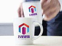 时尚彩色建筑logo