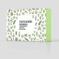 小清新绿色美食食品包装盒设计PSD