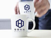 紫色科技logo AI