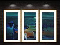 抽象风景高清现代油画