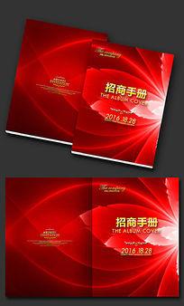 大气花朵背景画册封面PSD