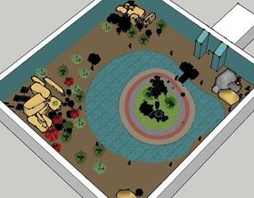 户外水景休闲庭院