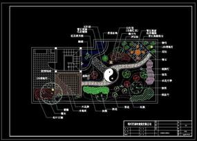 某屋顶花园植物配置总平面图 CAD