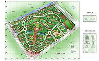 特色住宅区景观设计彩色平面