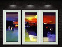 现代油彩抽象装饰画