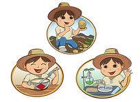 关于卡通乡村小孩形象的设计 PSD