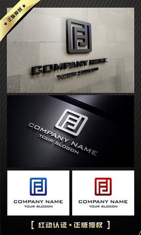 FD字母大气中国风LOGO设计
