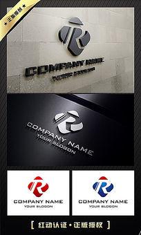 R字母大气公司LOGO设计