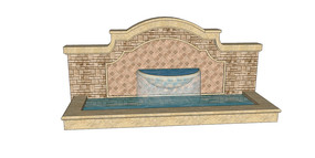 半圆水帘景墙