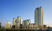 商业住宅区建筑立面效果