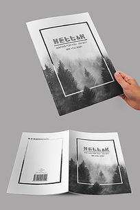 自然森林黑白封面