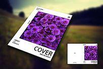 紫色鲜花唯美女性封面