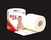 可爱孕婴专用卫生纸纸卷包装