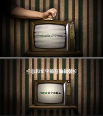 敲打电视故障电视创意微信小视频模板