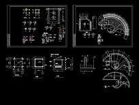亭子,花架,水池施工图 CAD