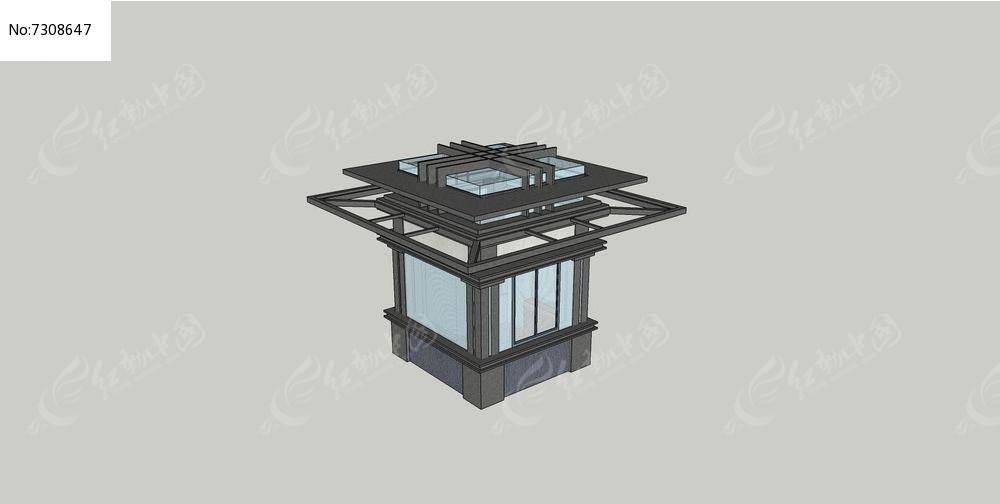现代钢构架保安亭图片