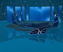 现代艺术舞美设计舞台SU模型