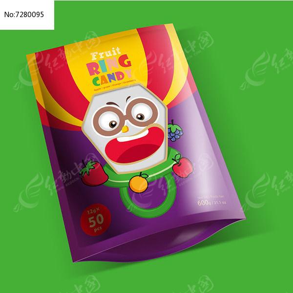 小丑戒指糖果包装袋图片