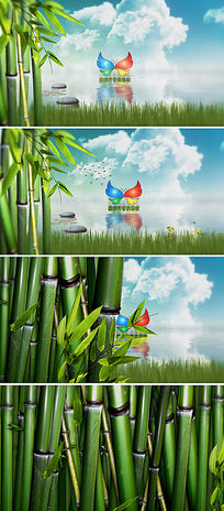 ae自然生态logo标志演绎模板