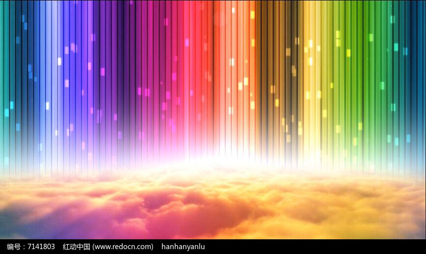 彩虹白云视频素材图片