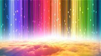 彩虹白云视频素材