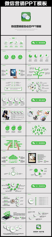 微营销行业解决方案互联网PPT