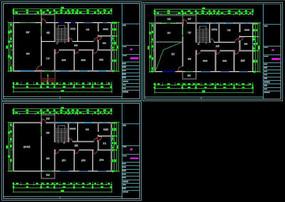 CAD别墅户型原始结构图模型