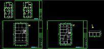 CAD店面建筑原始结构施工图模型