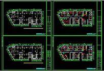 CAD美容院装修施工图模型