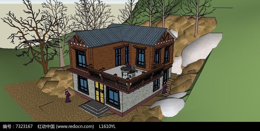 藏式建筑模型图片