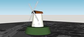 风车小屋模型