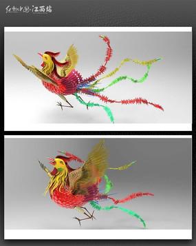 凤凰3D建模犀牛3D模型