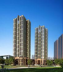 高层住宅周边绿化 PSD