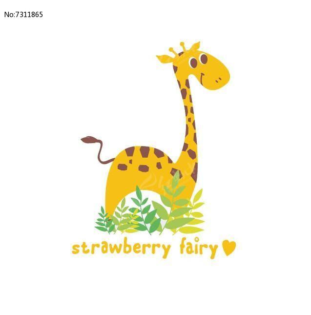 黄色可爱小鹿卡通图案