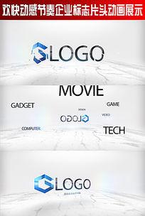 欢快动感节奏企业标志片头动画展示