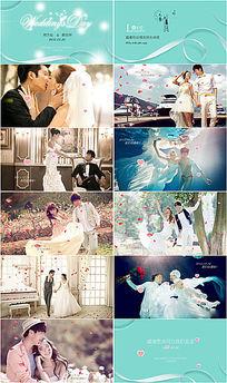 婚礼开场视频片头电子请柬ppt模版