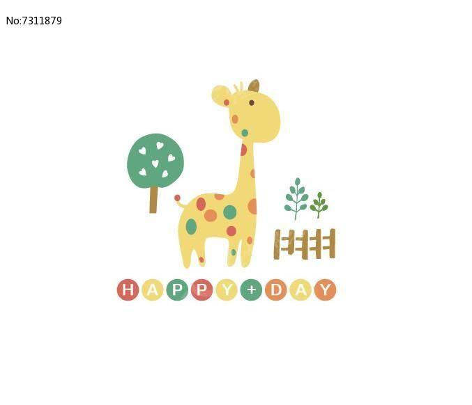 可爱小鹿卡通图案图片
