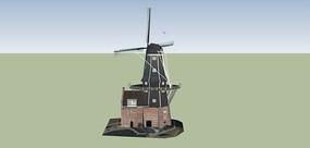 欧式风车的SU模型设计