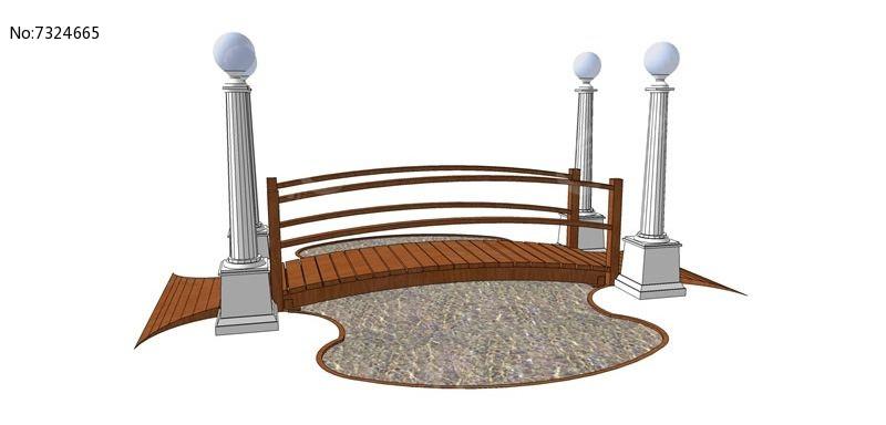 欧式木制桥图片