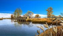 秋季滨水景观效果图