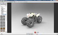沙滩车3D建模犀牛3D模型 3dm