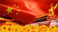 天安门红旗党政晚会背景视频素材