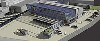 现代汽车站全景模型