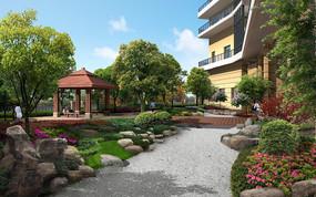 休闲庭院景观效果图